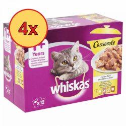 4x Whiskas Casserole Szárnyas válogatás Alutasakos macskaeledel 12x85g