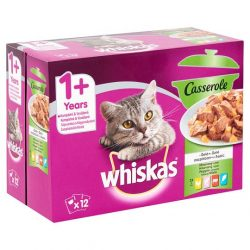 Whiskas Casserole Vegyes válogatás Alutasakos macskaeledel 12x85g