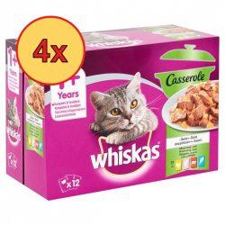 4x Whiskas Casserole Vegyes válogatás Alutasakos macskaeledel 12x85g