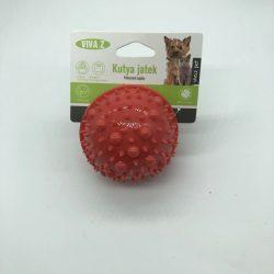 Felezett labda - fogzást segítő kutyajáték - piros