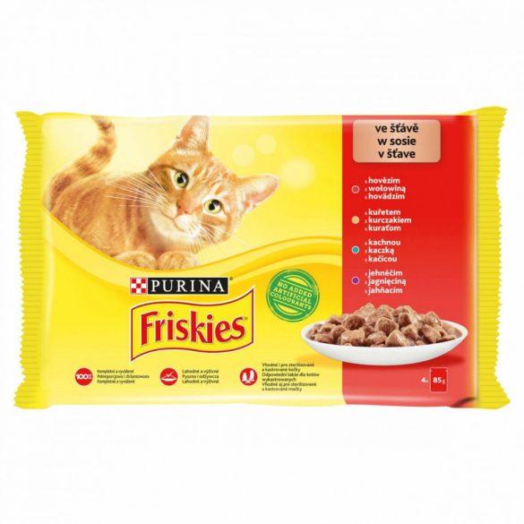 Friskies 4x85g Piros Csirke + Marha + Bárány + Kacsa  Alutasak