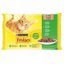 Friskies 4x85g Zöld Marha + Csirke + Tonhal + Tőkehal  Alutasak