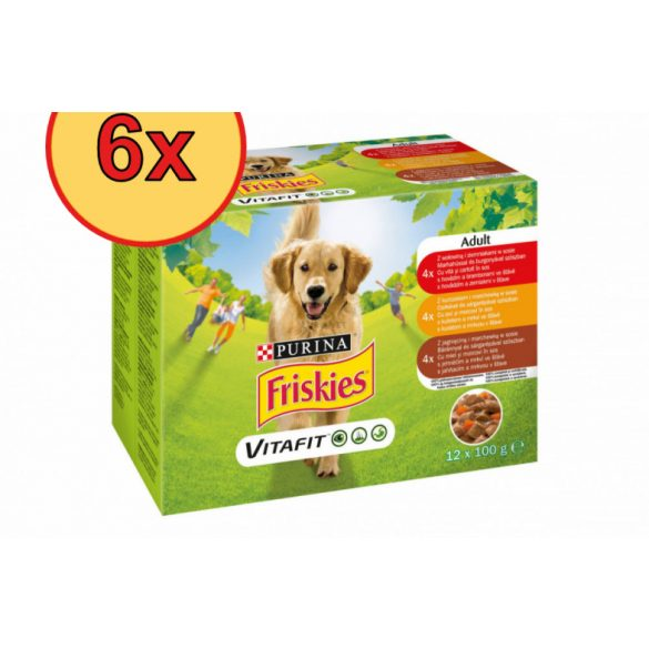 6x Friskies Dog 12x100g Szósz