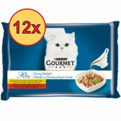 12x Gourmet Perle 4x85g Csirke + Marha  Szósz Alutasak