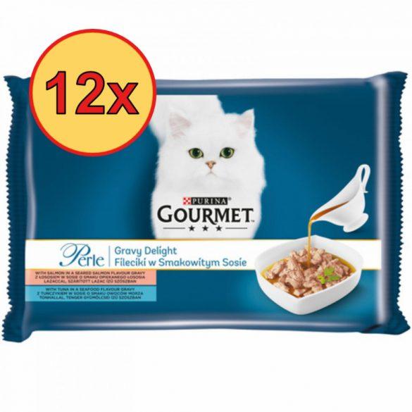 12x Gourmet Perle 4x85g Lazac + Tonhal Szósz Alutasak