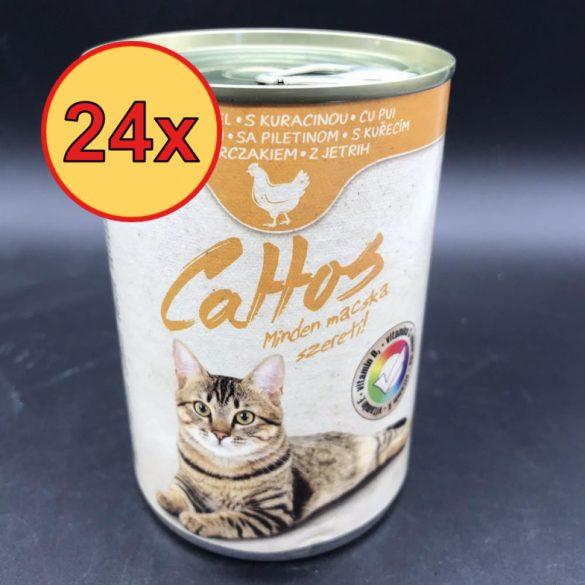 24x Cattos 415g Csirke