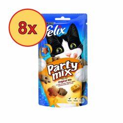 8x Félix Party Mix 60g Original Csirke + Máj + Pulyka