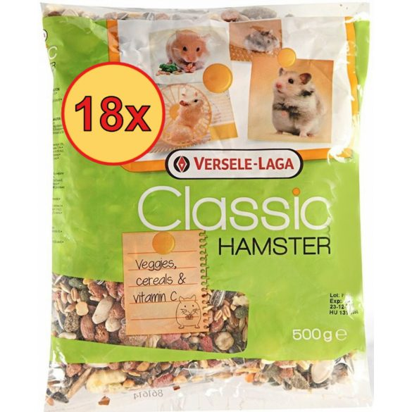 18x Versele Laga Classic Hamster 500g