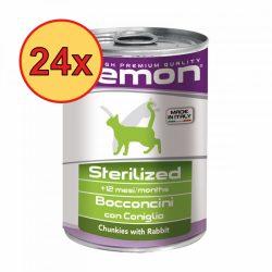 24x Gemon Cat 400g Steril Nyúl